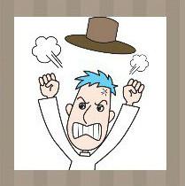 看图猜成语:一个生气的人帽子飞起来的答案是什么?