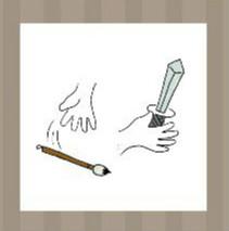 看图猜成语:一只手弃掉毛笔一只手拿剑答案